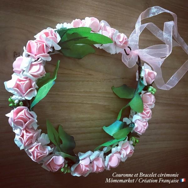 Couronne de fleurs et bracelet