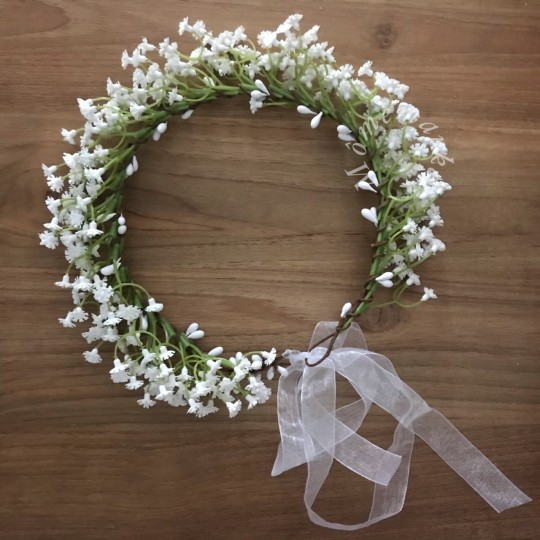 Couronne Gypsophile blanche
