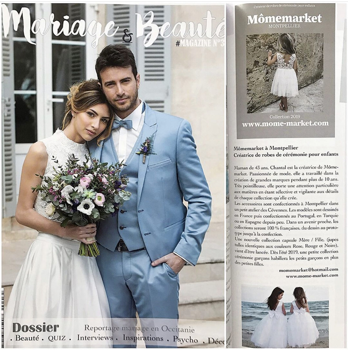Article presse 2019/2020 collection Mômemarket